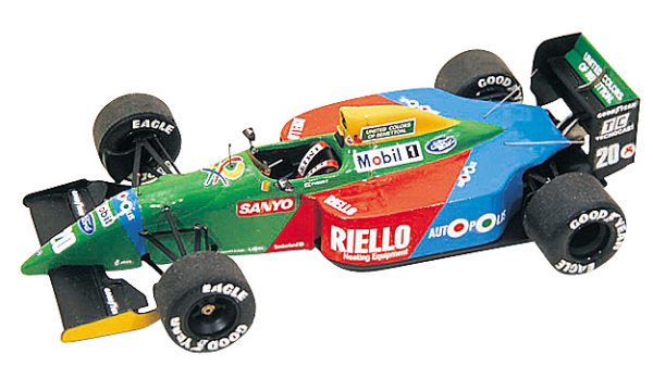 Tameo TMK131 Benetton B-190 Ford- 1990 - White Metal Car Kit - Scale 1:43, Made in Italy