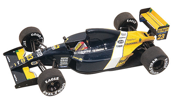 Tameo TMK141 Minardi M-191 - 1991 - White Metal Car Kit - Scale 1:43, Made in Italy