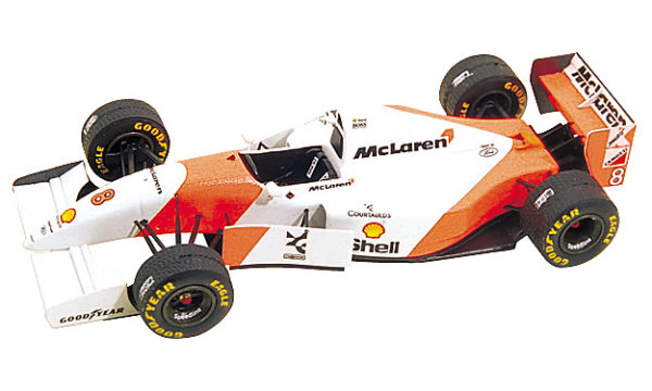 Tameo TMK166 McLaren MP4/8 Ford- 1993 - White Metal Car Kit - Scale 1:43, Made in Italy