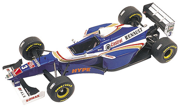 Tameo TMK240 Williams FW-19 Renault - 1997 - White Metal Car Kit - Scale 1:43, Made in Italy