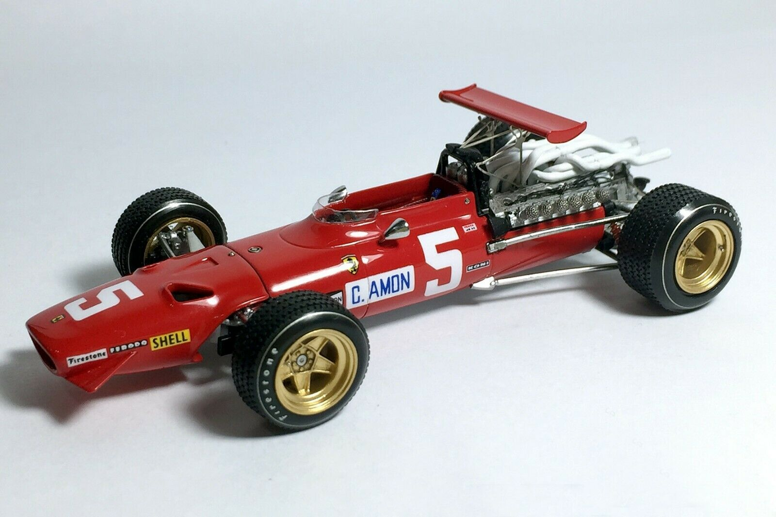 Tameo SLK 118 Ferrari 312 - White Metal Car Kit - Scale 1:43, RP-GB