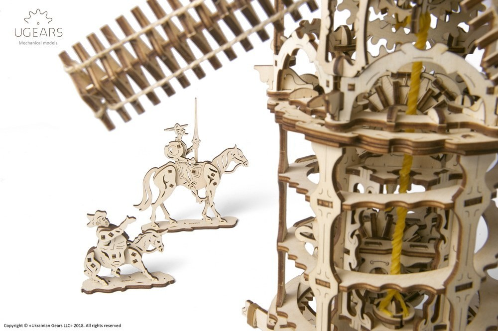 Ugears - Tower Windmill- Laser Cut Wood - 585 Parts