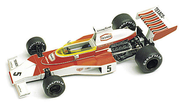 Tameo WCT074 McLaren M23 Ford Cosworth - 1974 Brazilian Grand Prix - White Metal Car Kit - Scale 1:43, Made in Italy