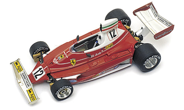 Tameo WCT075 Ferrari 312T - 1975 Monaco Grand Prix - White Metal Car Kit - Scale 1:43, Made in Italy