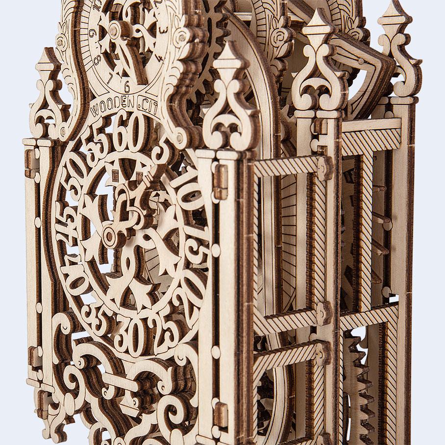 Wooden City Royal Clock WR314 Motion Model Kit - Laser Cut Wood