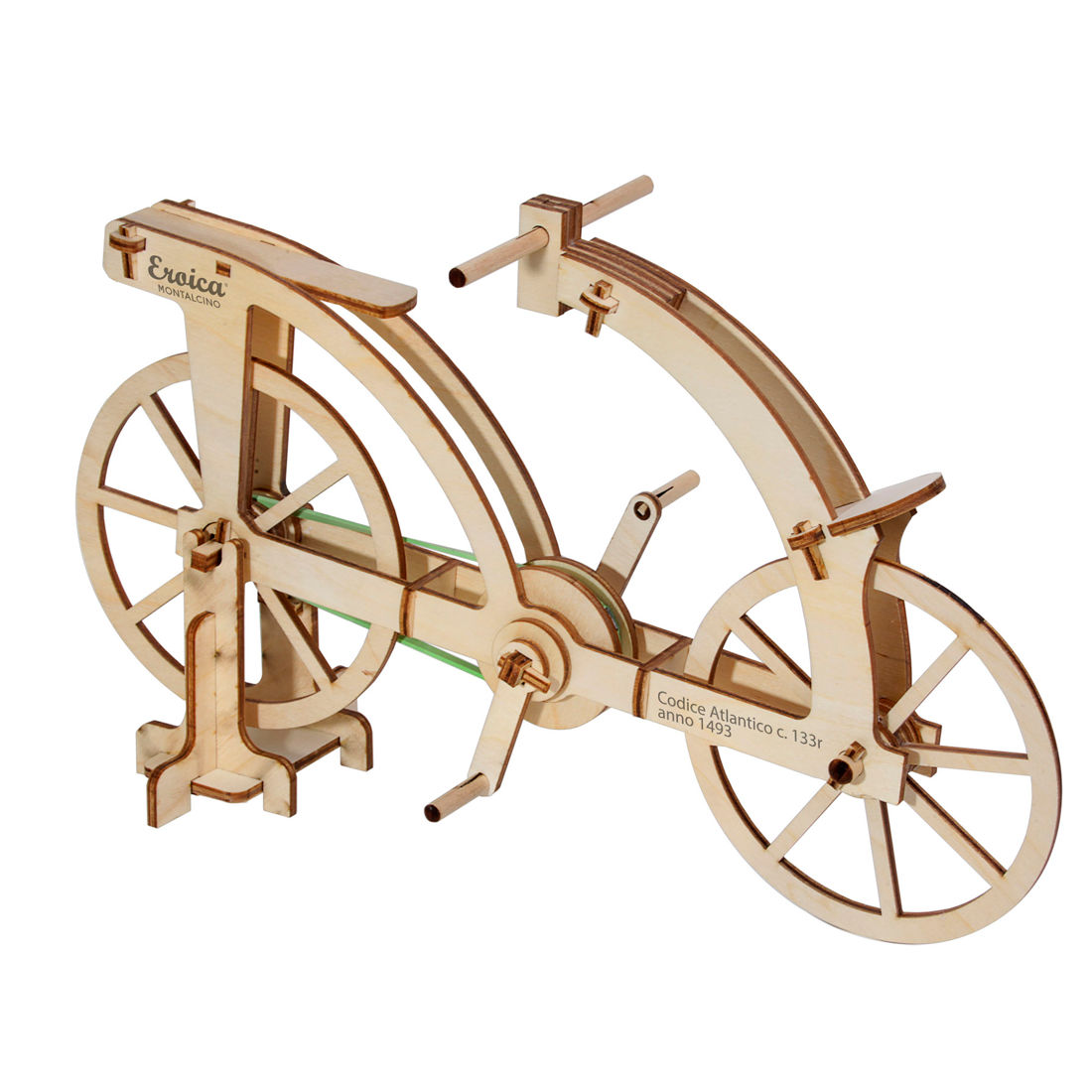 Da Vinci Bicycle Riciclandia Ric04 Laser Cut Wooden Model Kit Made In Italy