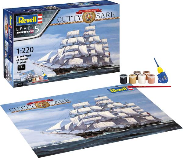 Revell of Germany Cutty Sark 150th Anniversary Gift Set 1:220 Scale
