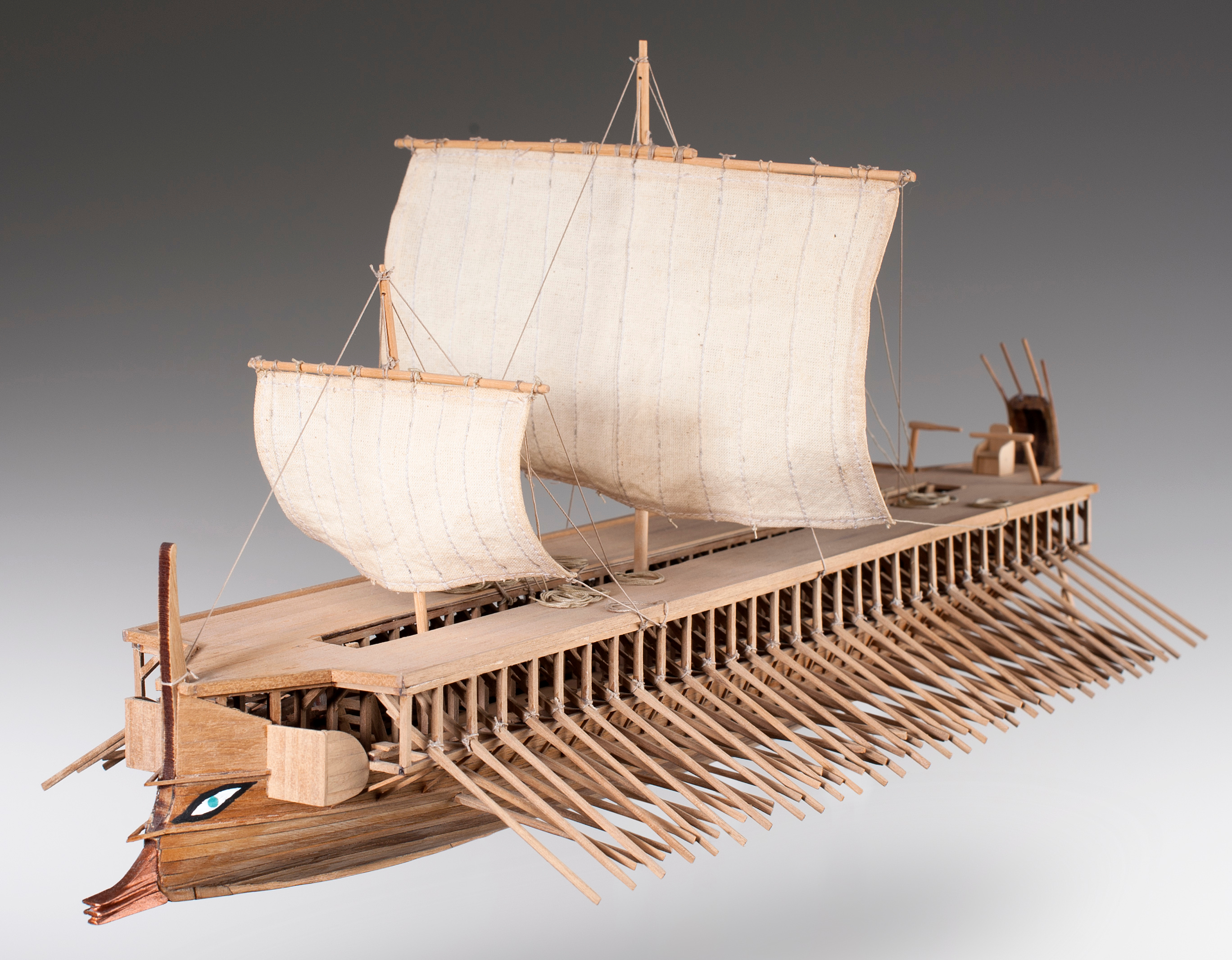 Dusek Greek Trireme Model Ship Kit, 480 B.C. – Scale 1:72