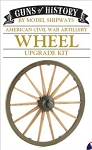 GUNS OF HISTORY CANNON WOODEN WHEEL SET 1:16 SCALE
