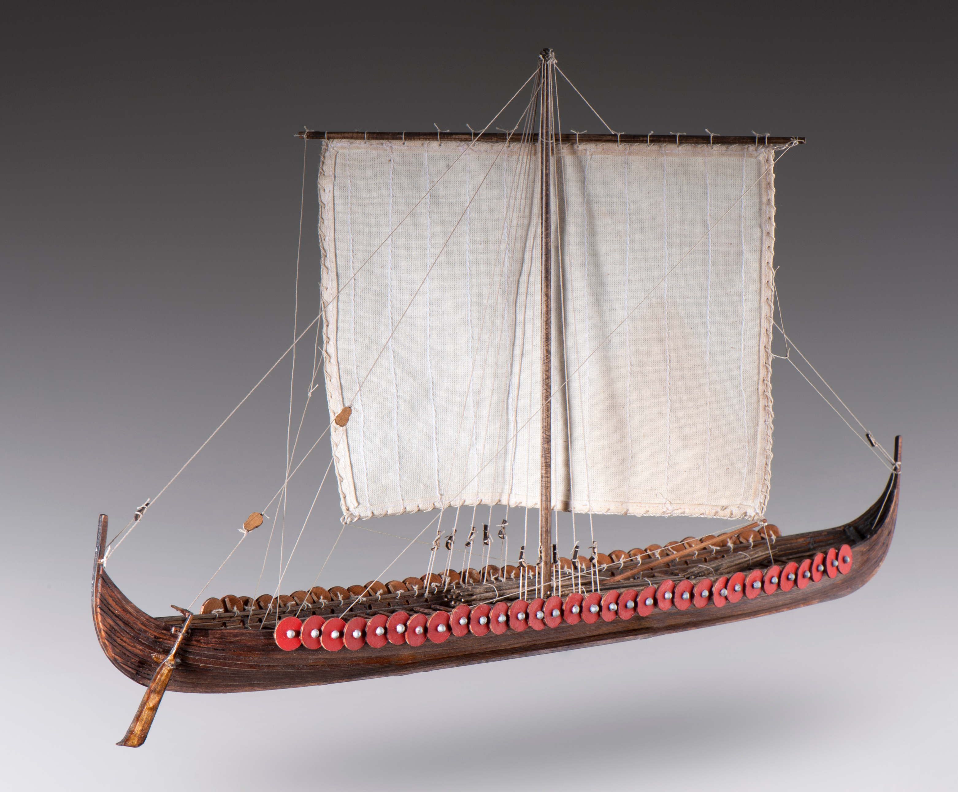 Dusek D014 Viking Longship Plank-On-Frame Wood Ship Model Kit - 1:72 Scale - 390mmLong