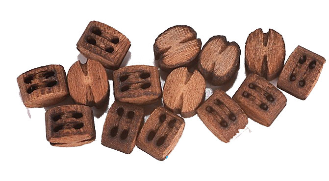 Model Shipways Beautiful Blocks 2 Sheave 3.0 mm Wood Block 20 Pack
