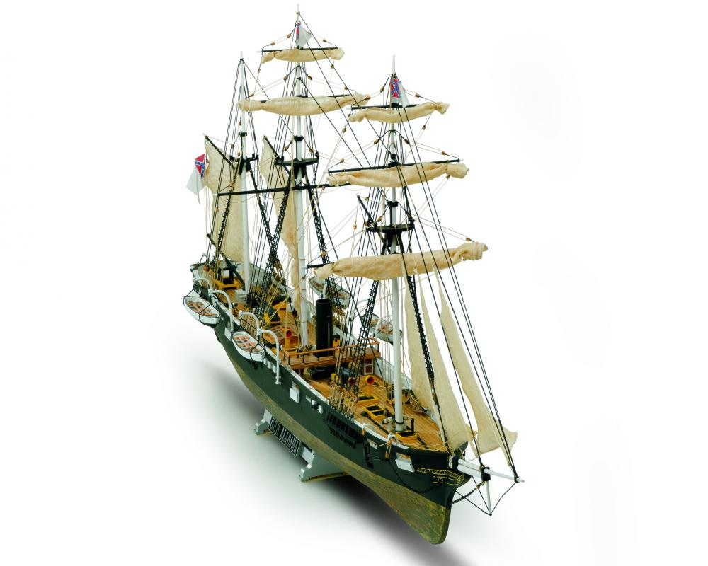 Mamoli MV53 CSS Alabama - Plank on Bulkhead Ship Model Kit - Scale 1/120 -  Length 28