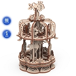 Mr. Playwood Wooden Mechanical Carousel Small