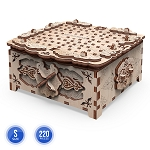 Mr. Playwood Wooden Mechanical Casket Floral Fantasy
