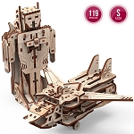 Mr. Playwood Wooden Mechanical Transformer Robot-Airplane
