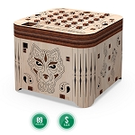 Mr. Playwood Wooden Mechanical Casket Secret of Tiger