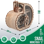 Mr. Playwood Wooden Mechanical Snail moneybox