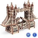 Mr. Playwood Wooden Mechanical Tower Bridge Small