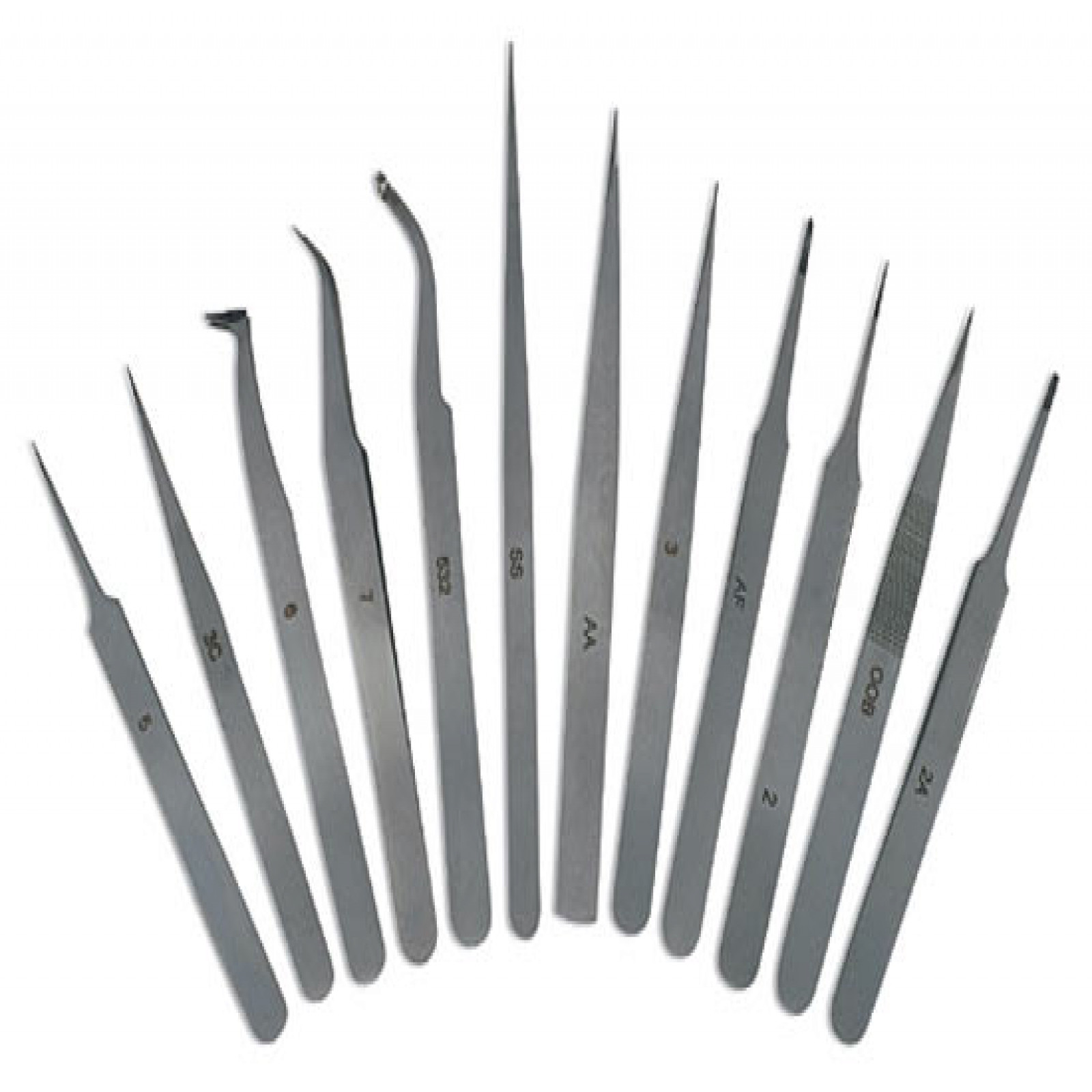 12-Pc. Tweezers Set