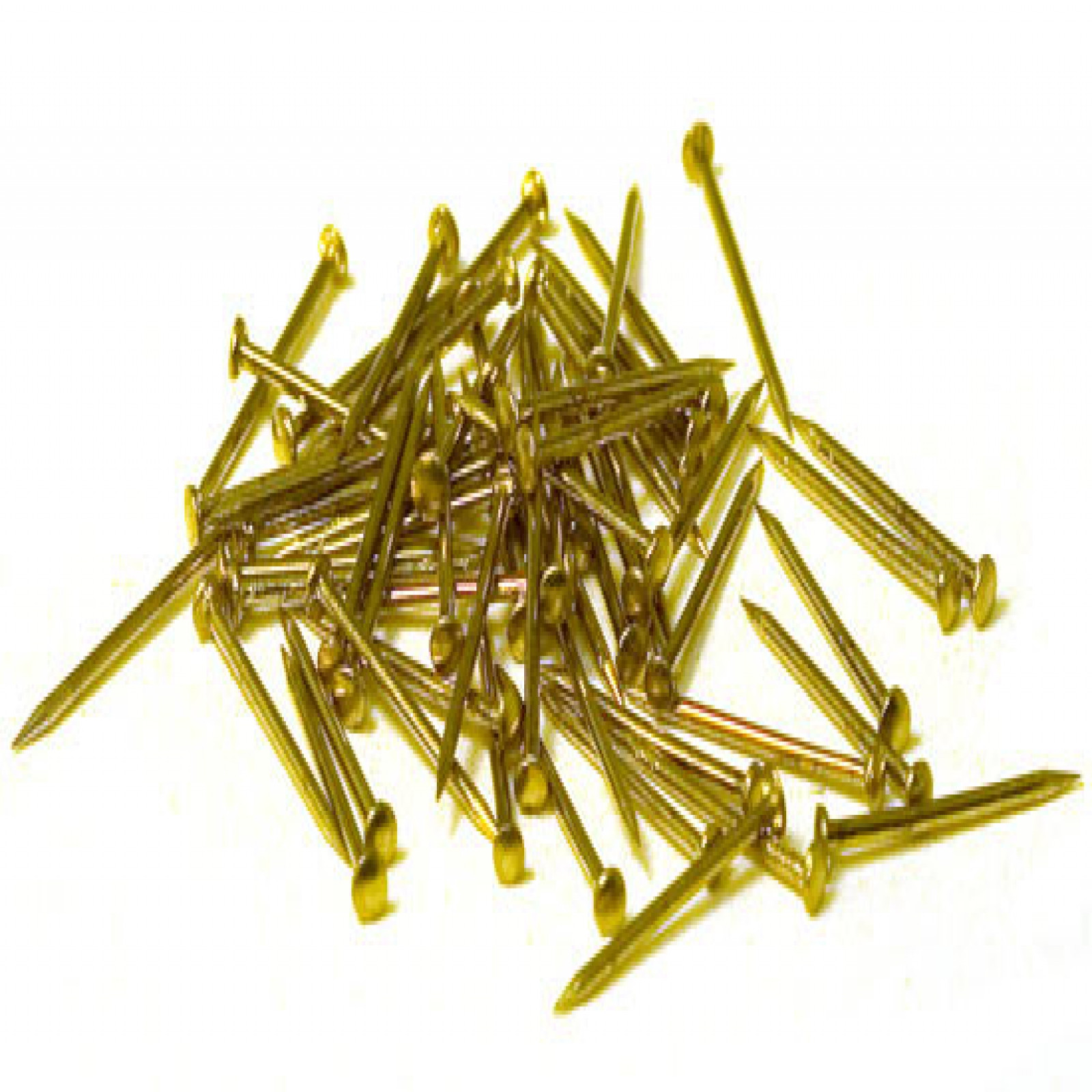 NAILS,  Brass .028 x 5/16 (.7x8mm) 1500/pack