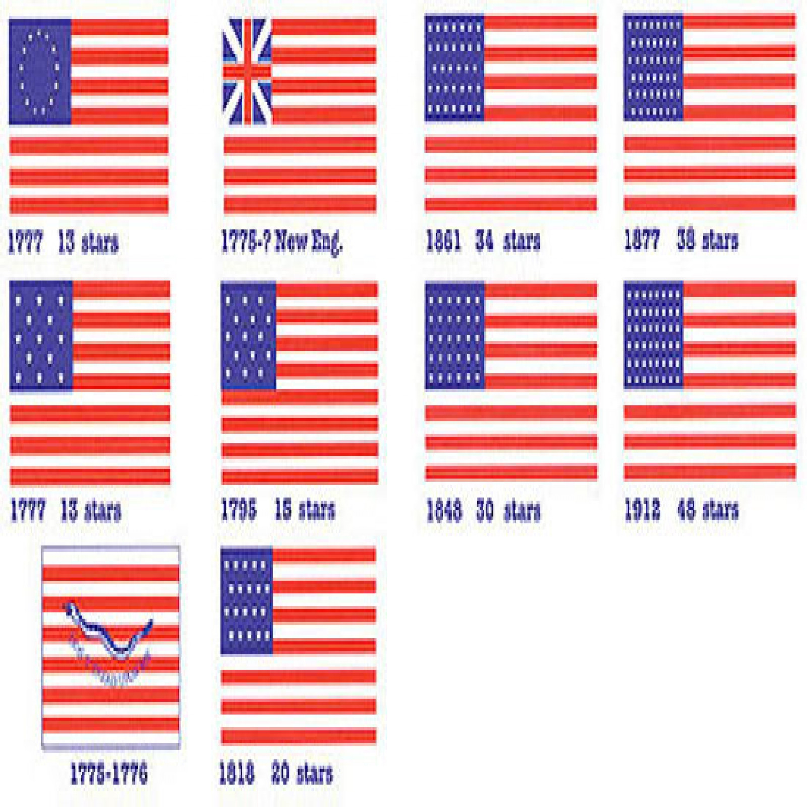 REVOL. & US FLAGS 1/2X1 (CLOTH)