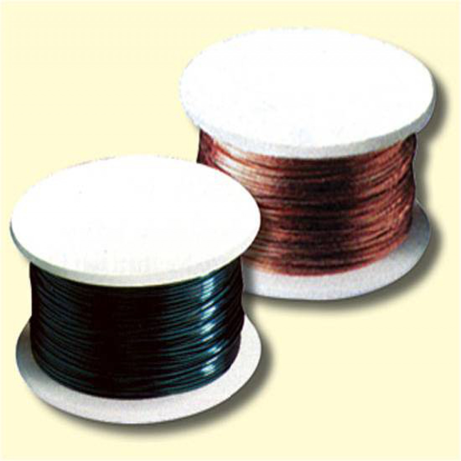 COLORED WIRE SPOOL - BLACK - DIA. 20 GAUGE - 15 YD