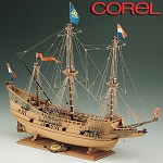 COREL HALF MOON WOOD SHIP MODEL KIT 1:50