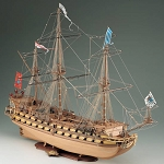COREL MIRAGE 17TH CENTURY FRENCH SHIP MODEL KIT
