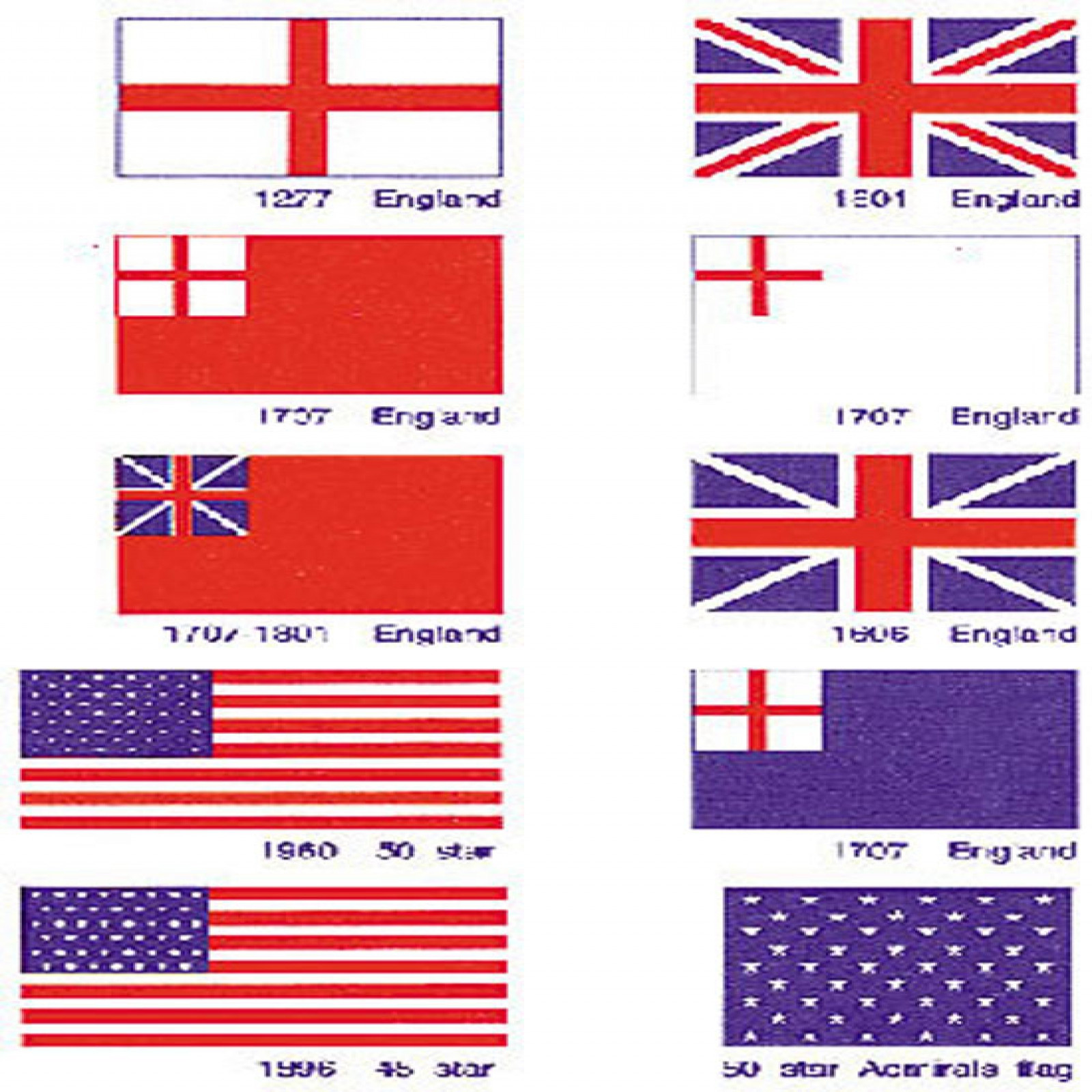 Model Shipways US & BRITISH FLAGS 1/2