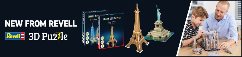 Interesting new 3D Puzzles from Revell of Germany of some of the most iconic locations and buildings