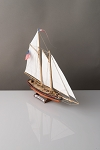 Corel SM102 Yacht America- Solid Carved Wood Hull Kit - Scale 1:155 - Length 12-3/4
