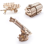 Ugears - Additions for Truck UGM-11 - Laser Cut Wood - 322 Parts