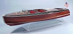 DUMAS #1241 1938 CHRIS-CRAFT TRIPLE COCKPIT BARREL BACK MODEL BOAT KIT Scale 1:8
