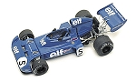 Tameo WCT073 Tyrrell 006 Ford - 1973 Italian Grand Prix - White Metal Car Kit - Scale 1:43, Made in Italy