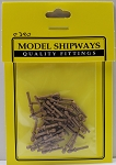 Model Shipways Belaying Pins, Walnut 9/16