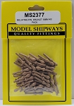 Model Shipways Belaying Pins, Walnut 18mm 40 pack
