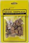 Model Shipways Triple Sheave Block, Walnut 13/32