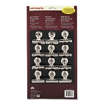 X-ACTO2 Bulldog Magnetic Clips, Metallic, 12 Pack