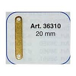Mantua Model 36310  Chain plate footer - brass - length 20 mm - Pkg. of 10 pcs.