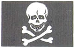 Mantua Model Pirate Ship Cloth Flag - 20 x 30 MM  (.8 x 1.2