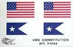 Mantua Model 37454 Sheet of Cloth Flags for U.S.S. Constitution - 77 x 147 MM ( 3 x 6