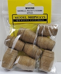 Model Shipways BarrelS, Walnut 21x30mm 8 pack.