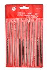 Fine Cut Needle File Set, 12Pc. 5-1/2