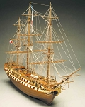 Mantua Model 798 Le Superbe - Wood, double-planked on bulkhead ship model kit - Scale 1:75 Length 1100 mm (44