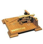 Mantua 807 French Marine Cannon - All Wood & Metal Kit 1:17 Scale Kit