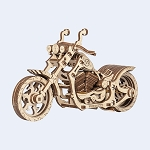 Cruiser Motorcycle by Wooden.City 3D Puzzle Model Kit - Laser Cut Wood
