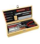 Excel 44291 Deluxe Ship Modelers Tool Set in Wooden Box