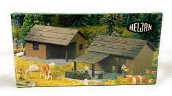 Heljan Forest and Log Cabin HO Scale