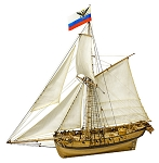 Master Korabel MK0303P Tender AVOS 1806 and Dinghy Wooden Kit 1:72 Scale