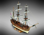Mamoli MM03 HMS Beagle - Wooden model kit with pre-carved hull - Scale 1/121 - Length 350 mm - Height 220 mm